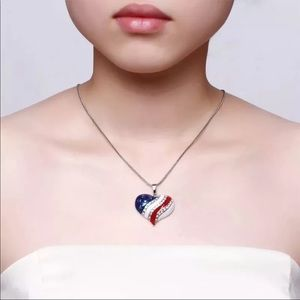 Commemorative Independence Day July 4th necklace